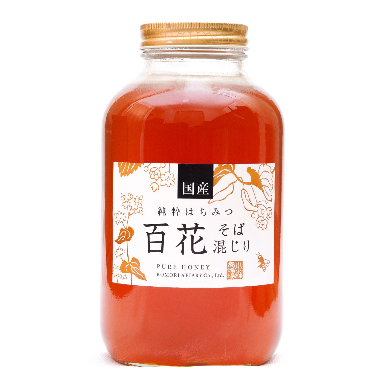 国産ソバ入り百花蜂蜜 2400g