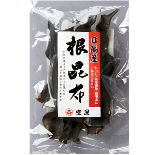 【日高産根昆布 27g】栄養価の高い根昆布。程よい柔らかさと値段が魅力。【日高‐336】