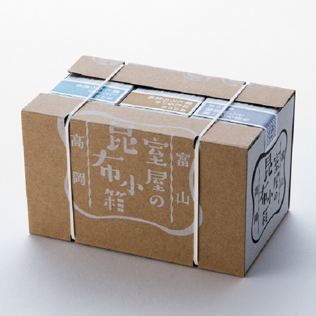 【昆布小箱 富山の幸 3点セットKO-A】 ★デザイン性の高さが魅力!もらって嬉しい3個セットです♪【小箱‐3599】