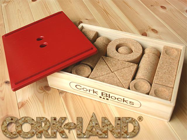 コルクランド コルクの積み木