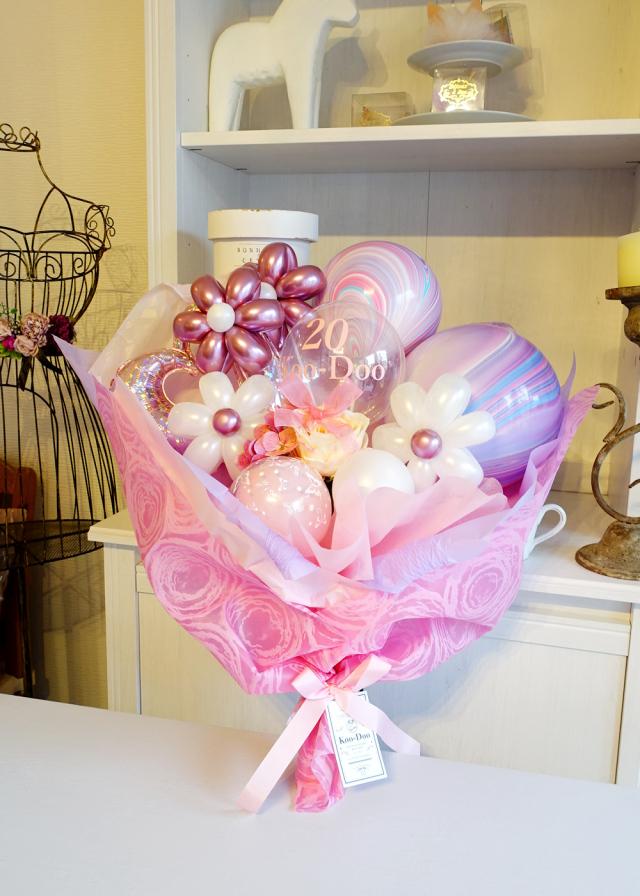 バルーン花束 成人式 誕生日プレゼント バルーンブーケ バルーンアレンジ バルーンアート通販ショップ KOO-DOO