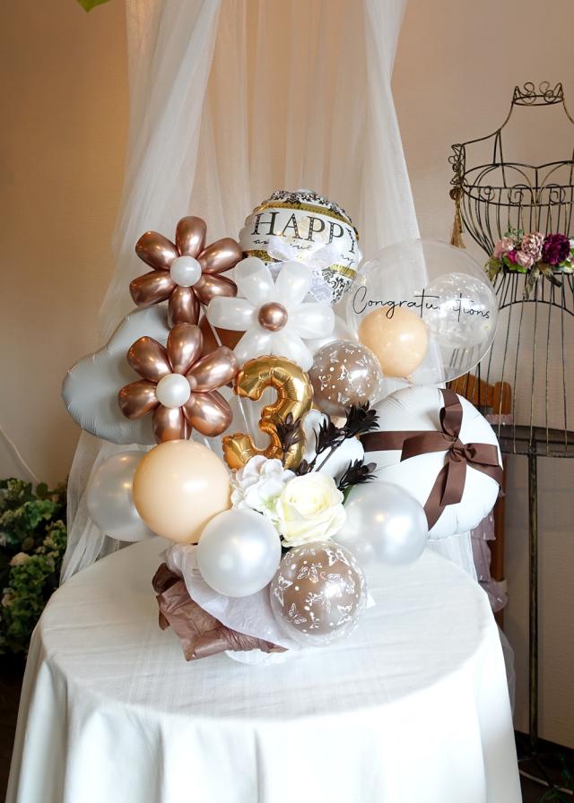 バルーンギフト卓上 バルーンアレンジ 文字入れ 誕生日 お祝い 開店周年お祝い 結婚お祝い バルーンアート通販ショップ KOO-DOO