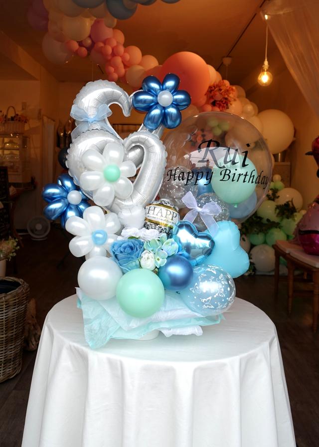 バルーンギフト 卓上 バースデー 誕生日 お祝い 結婚祝い 文字入れ バルーンアート通販ショップ KOO-DOO