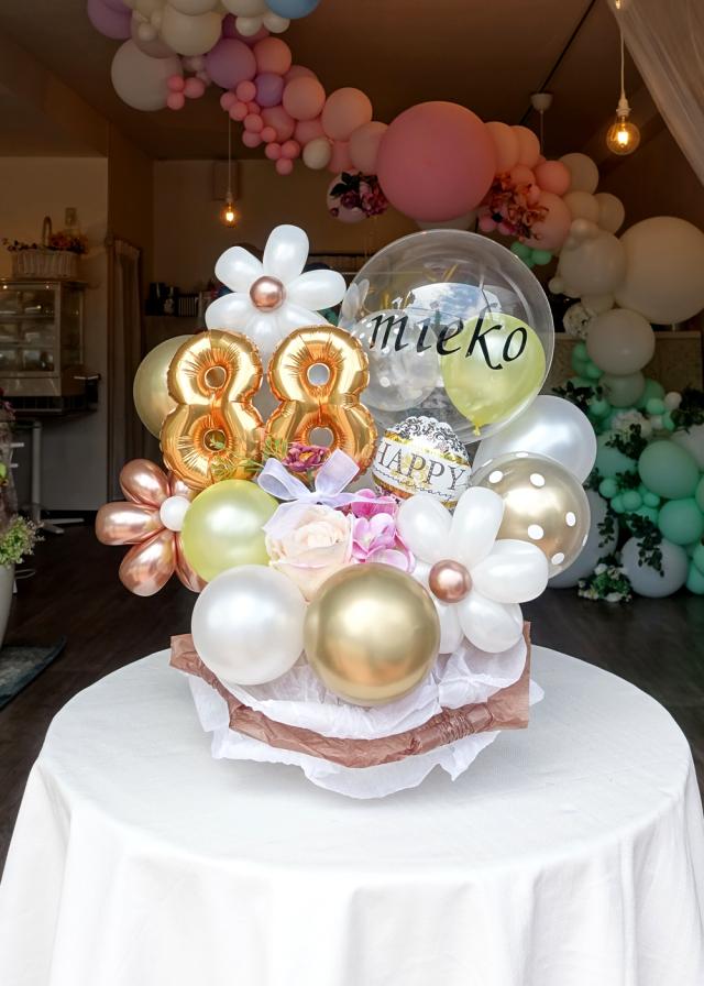 バルーンギフト 卓上 傘寿 米寿 誕生日 お祝い 文字入れ バルーンアート通販ショップ KOO-DOO