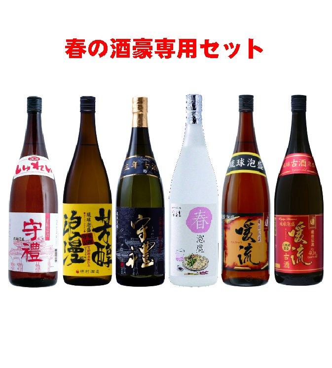 春の酒豪専用1升瓶6本セット【送料無料】