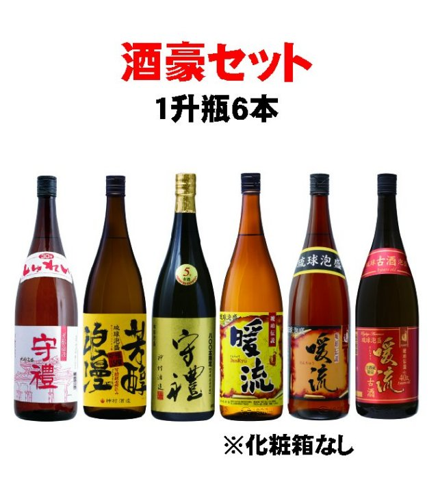 酒豪専用1升瓶6本セット【送料無料】