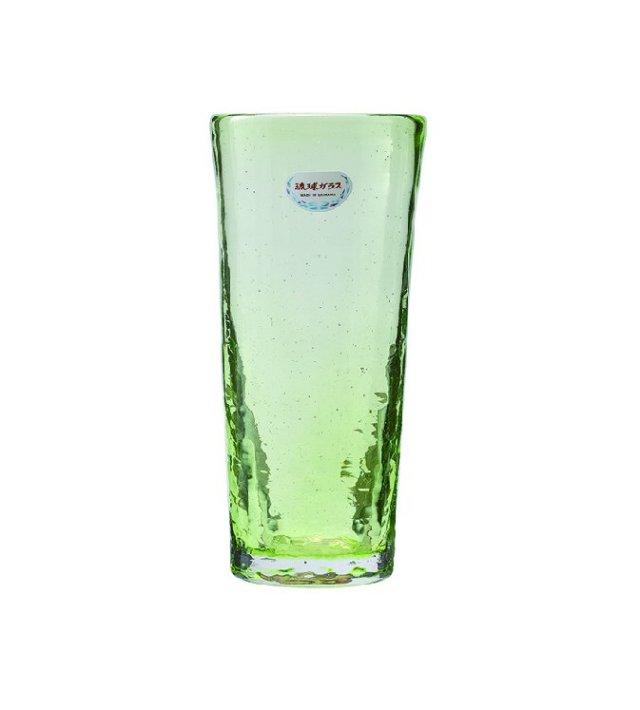 琉球ガラス ロンググラス(緑) てぃだ工房