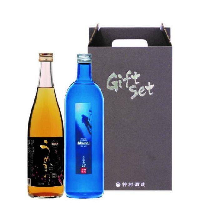 守禮BLUE3年古酒25度&うめかおるセット 【送料込】