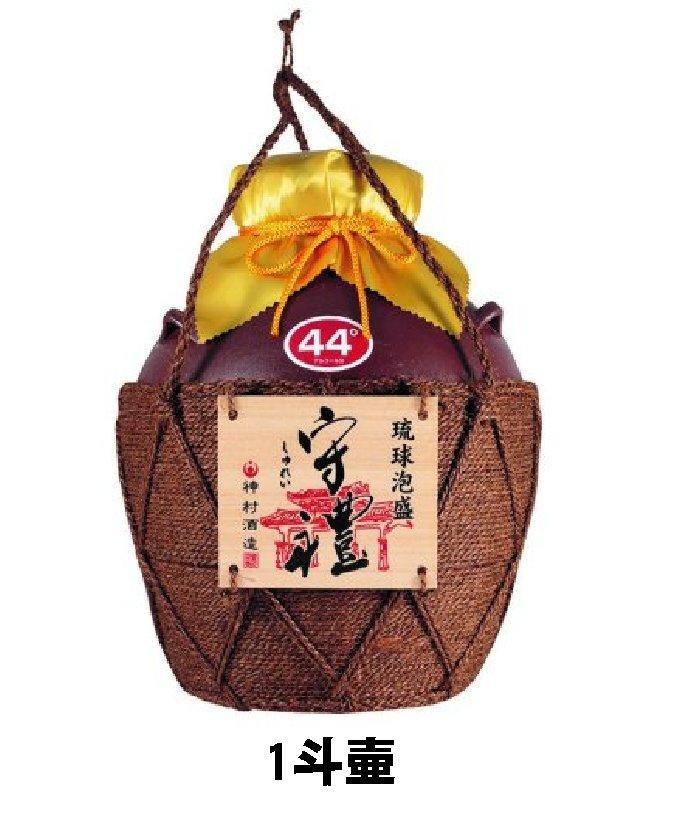 守禮44度シュロ巻壷(いちまん焼)1斗壷18L 【送料無料】