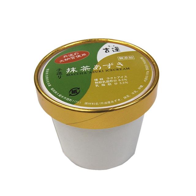 古蓮のお抹茶あずきアイスクリーム