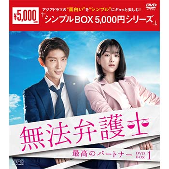 無法弁護士~最高のパートナーDVD-BOX1(5枚組)<シンプルBOX 5,000円シリーズ>