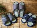 気持ちよさ や・み・つ・き♪日本製 紳士畳サンダル 藍染め柄 大きいサイズ