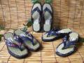 気持ちよさ や・み・つ・き・♪純国産品「古都ゆき和心」婦人い草 畳草履 藍染め