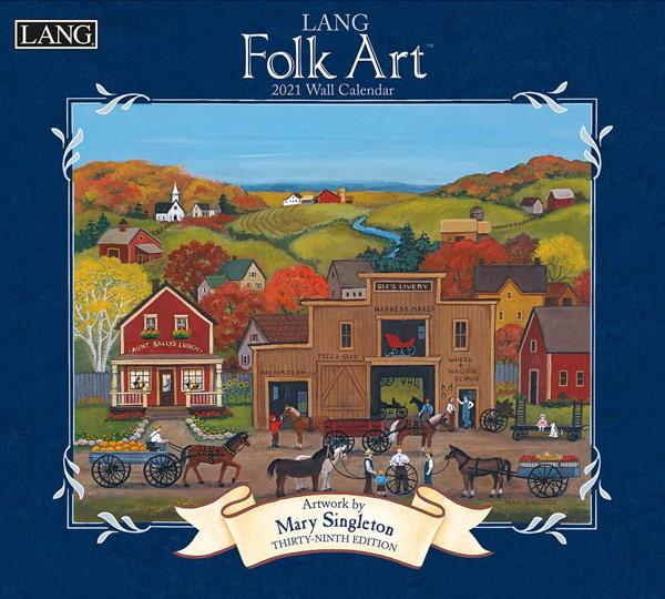 2021年ラングカレンダー「Folk Art」