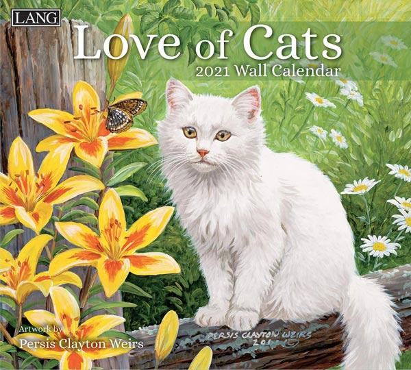 2021年ラングカレンダー「Love of Cats」