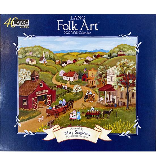 2022年ラングカレンダー「Folk Art」