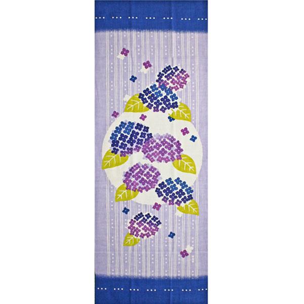 濱文様の絵てぬぐい「紫陽花かざり」