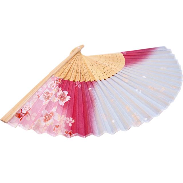 扇子 ぼかし桜 ピンク