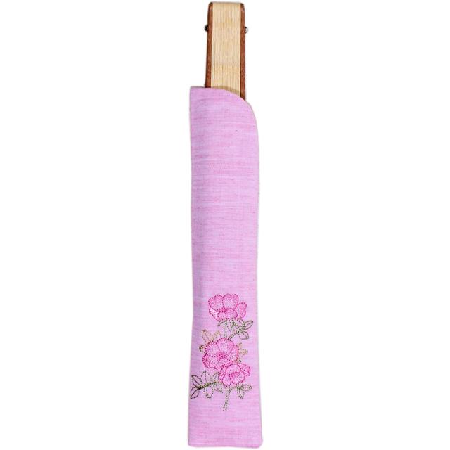 ボタニカル刺繍扇子セット 薔薇