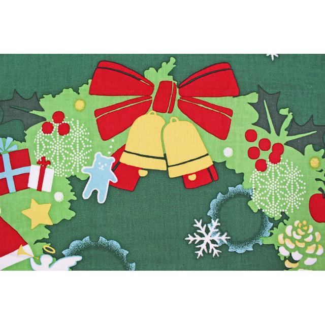 濱文様の絵てぬぐい クリスマスリース