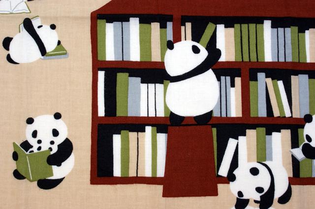 濱文様の絵てぬぐい パンダ書林