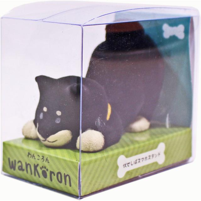 wankoron 伏せしばスマホスタンド 黒