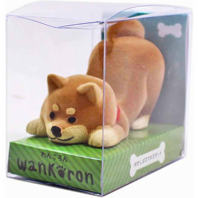 wankoron 伏せしばスマホスタンド 茶