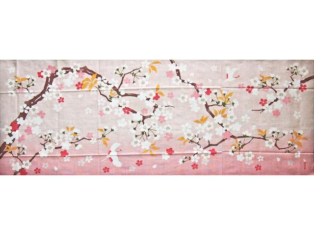 濱文様の絵てぬぐい 祝桜