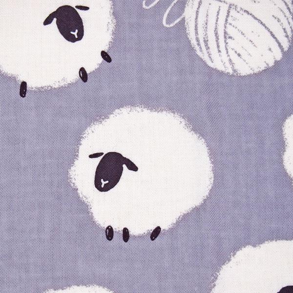 濱文様の捺染てぬぐい「毛糸羊」