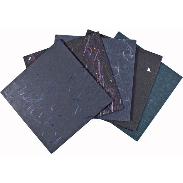 越前和紙 黒和紙 10×10cm