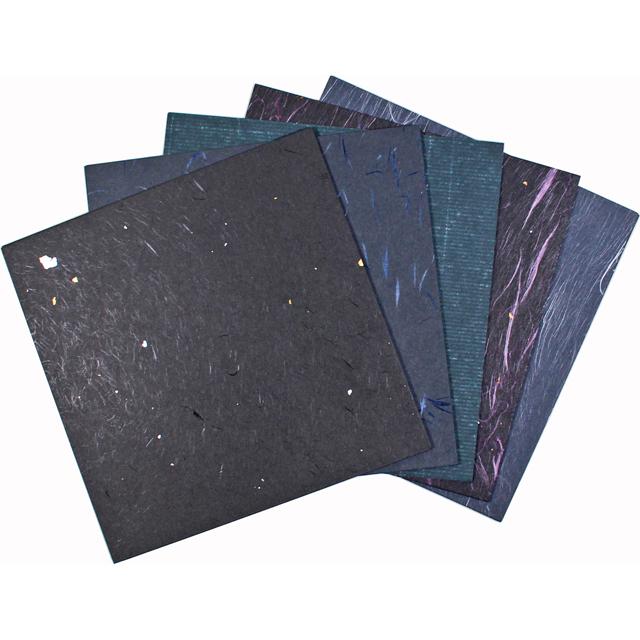 越前和紙 黒和紙 15×15cm