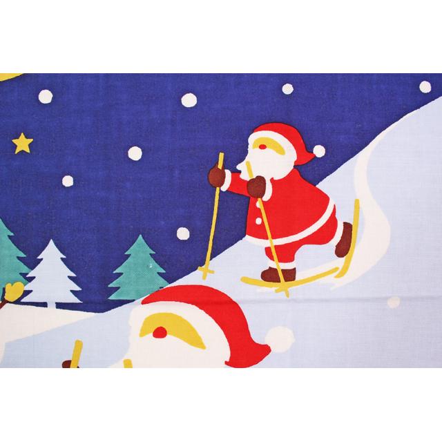 濱文様の絵てぬぐい サンタの冬遊び