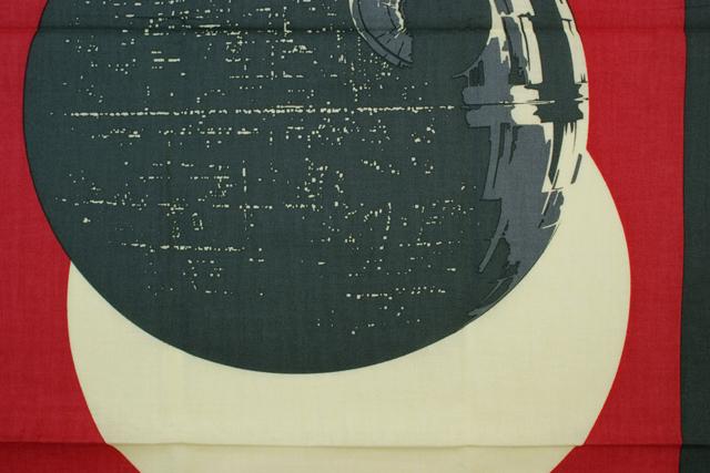 STARWARS 和てぬぐい デススター 芒に月