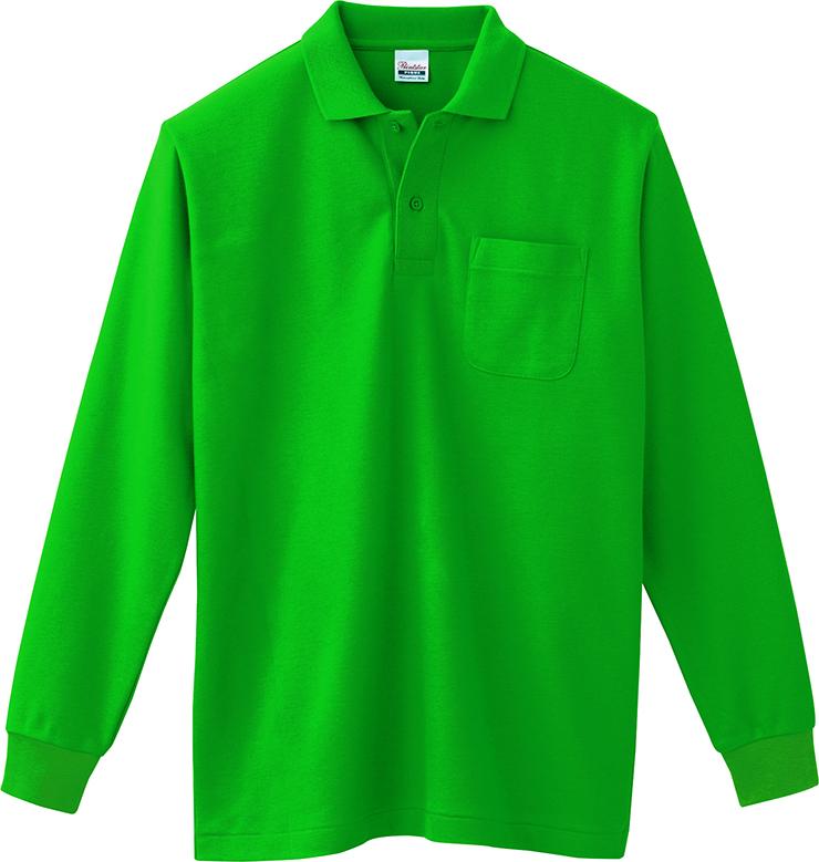トムス    5.8オンス  T/C長袖ポロシャツ(ポケット付)