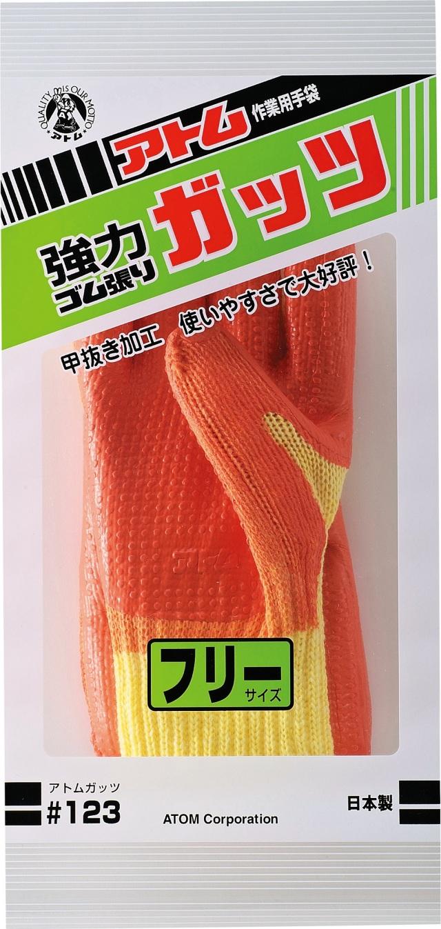 アトム手袋   強力ゴム張り ガッツ   123