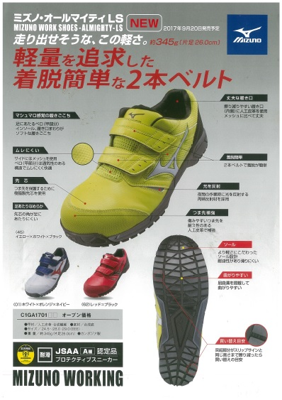 CIGA1701     ミズノ     安全靴