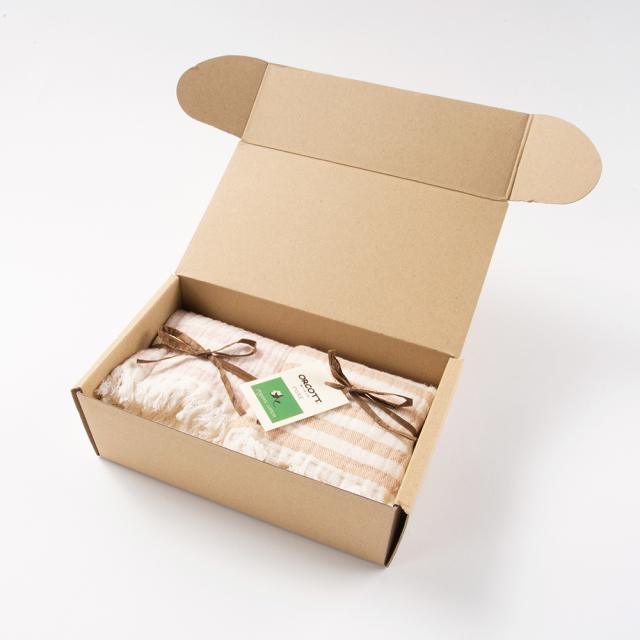 オーガニックコットンタオルセット ハンドタオル2枚 内祝いや贈り物におすすめ ギフト箱付