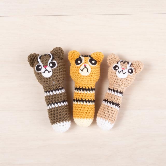 編みぐるみ イリオモテヤマネコ 赤ちゃんのおもちゃラトル