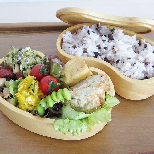 木製お弁当箱ビーンズ型