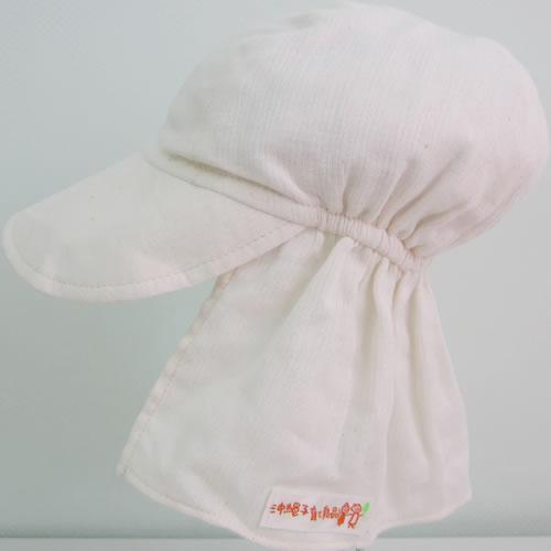 UVカット帽子子ども用の紫外線対策帽子【ふんわりサンハット】(オーガニック):ホワイト