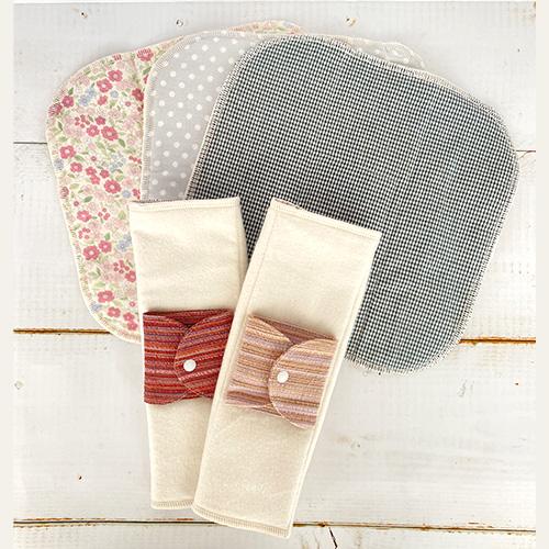 布ナプキン【生理痛の軽減やかぶれに】四角三つ折り(大)(柄おまかせ)