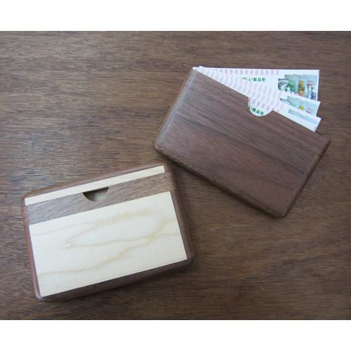 就職祝いや記念品に木製名刺入れ(約10枚入ります)【名入れできます】送別の贈り物にも最適