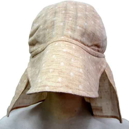 UVカット帽子子ども用の紫外線対策帽子【ふんわりサンハット】(オーガニック):水玉ガーゼ