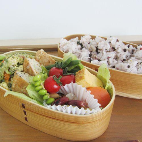 小判型わっぱ2段お弁当箱