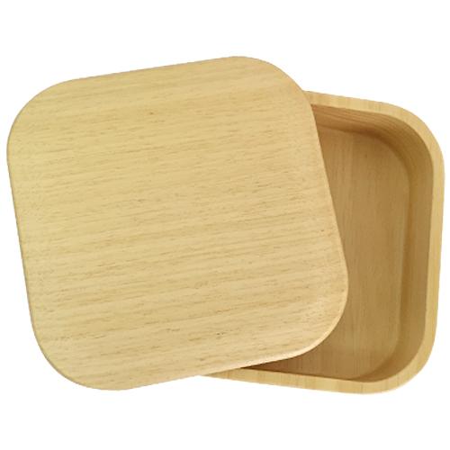 木製お弁当箱しかく