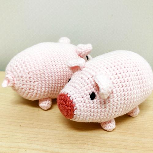 編みぐるみ キビまる豚 赤ちゃんのおもちゃラトル