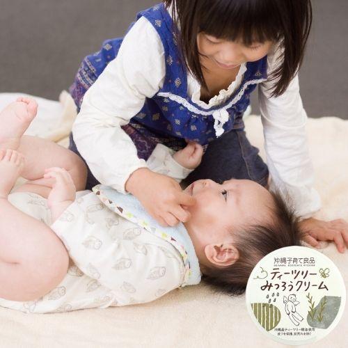 【おきなわティーツリーバーム】 乾燥肌や敏感肌 赤ちゃんの保湿や肌荒れ防止に