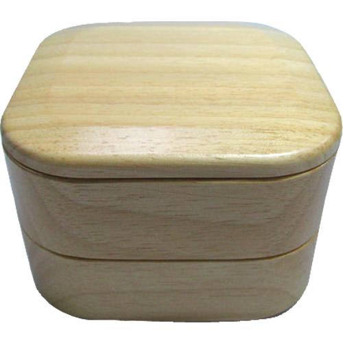 四角型プチ2段木製お弁当箱【お名前入れもできます】名入れ子ども用お弁当箱【入園入学祝い 贈り物】運動会や遠足に