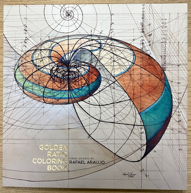 Golden Ratio Coloring Book Hand Draen by  Rafael Araujo