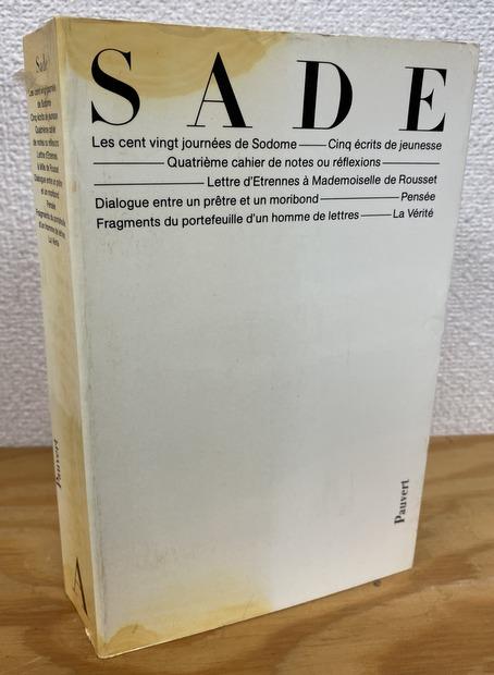 Oeuvres completes du Marquis de Sade, tome premier